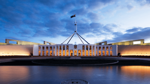 Australian Parliament Building in Canberra