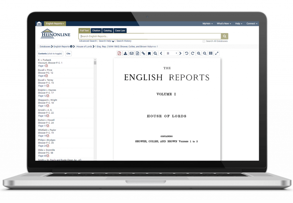 English Reports interface on laptop