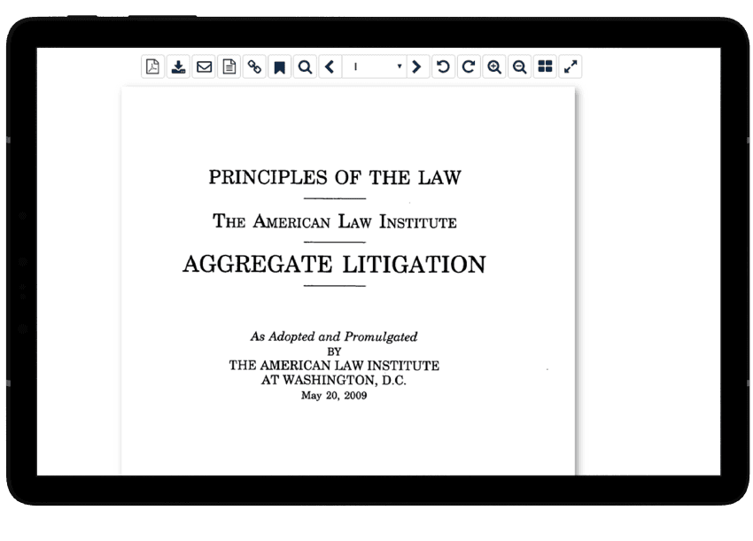 Principles of the Law Tablet View