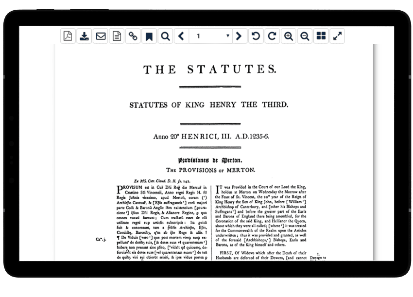 Statutes of the Realm in HeinOnline's English Reports