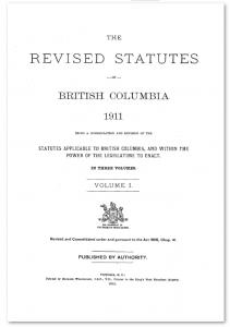 Revised Statue of British Columbia