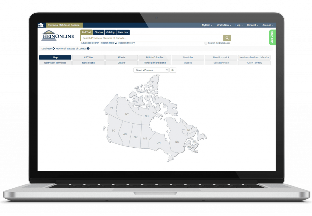 Laptop Image for Provincial Statutes of Canada