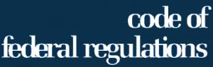 Code of federal regulations logo