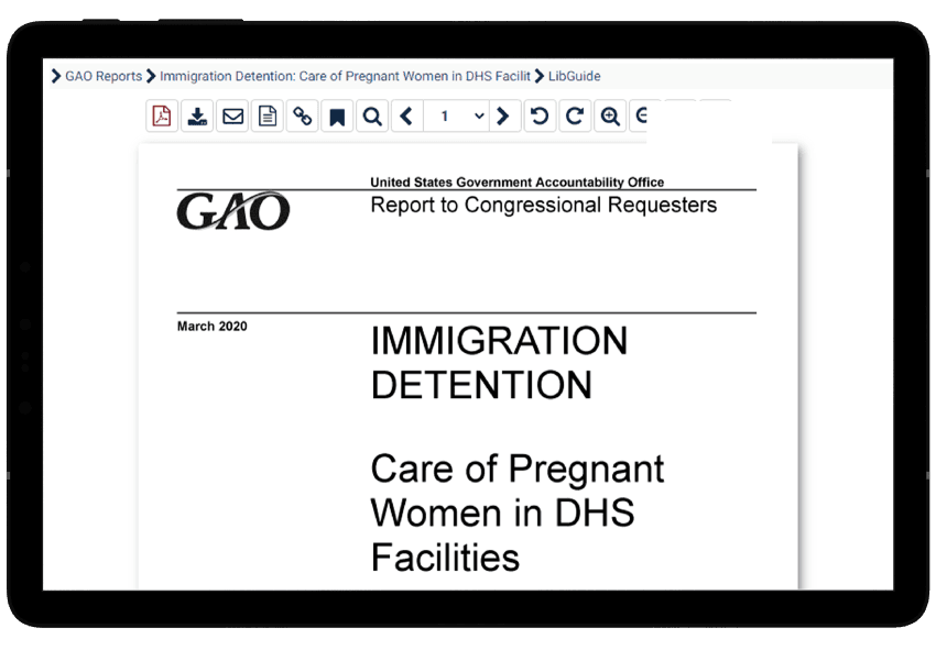 Immigration Law & Policy in the U.S. featured GAO report