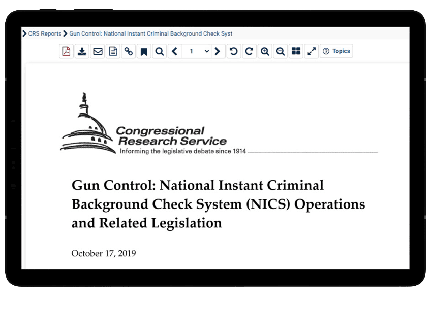 Gun-related government reports in HeinOnline
