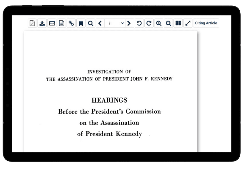 Full text reports in Reports of U.S. Presidential Commissions