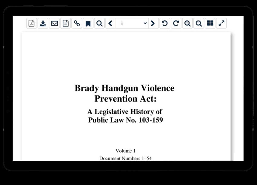 Gun-related legislative histories in HeinOnline