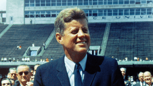 President john f. kennedy at podium