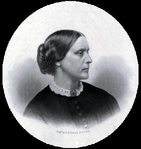 Portrait of Susan B. Anthony, women's rights activist