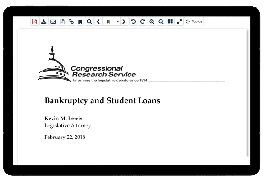 CRS report in HeinOnline's History of Bankruptcy