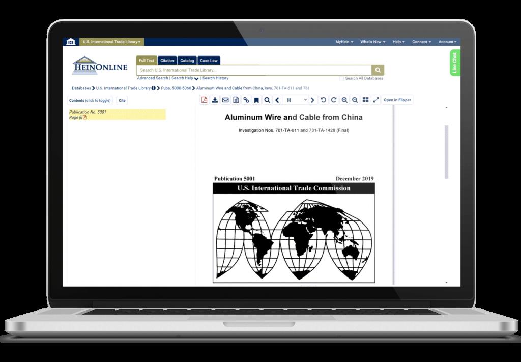 International Law Database Screenshot