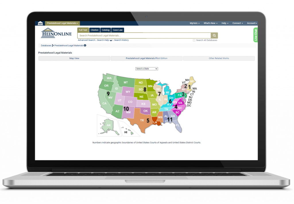 Laptop View of Prestatehood Legal Materials