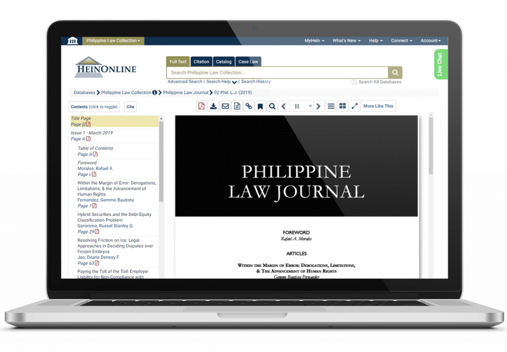 Philippine Law Journal from the Philippine Law Collection