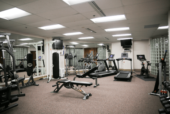 Machines in the HeinOnline Fitness Center