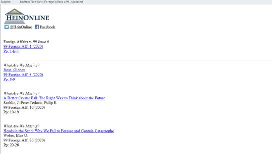 Proxy on MyHein Title Alert