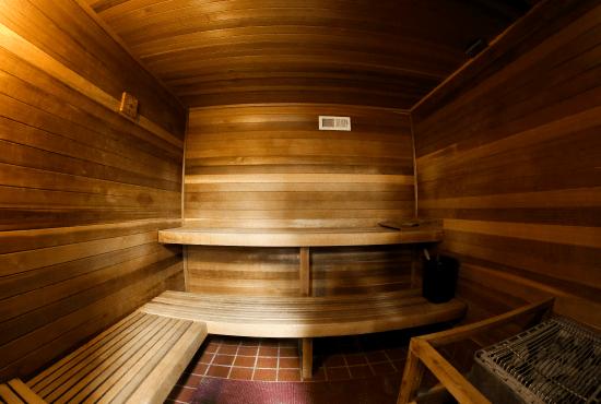 Sauna in the HeinOnline Fitness Center