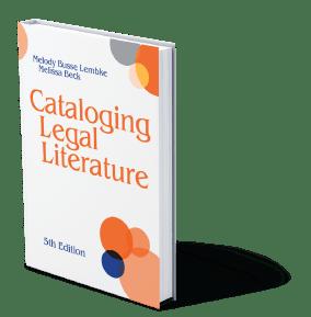 Cataloging Legal Literature, 5th Edition Book Cover
