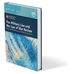 Military Law and the Law of War Review Cover