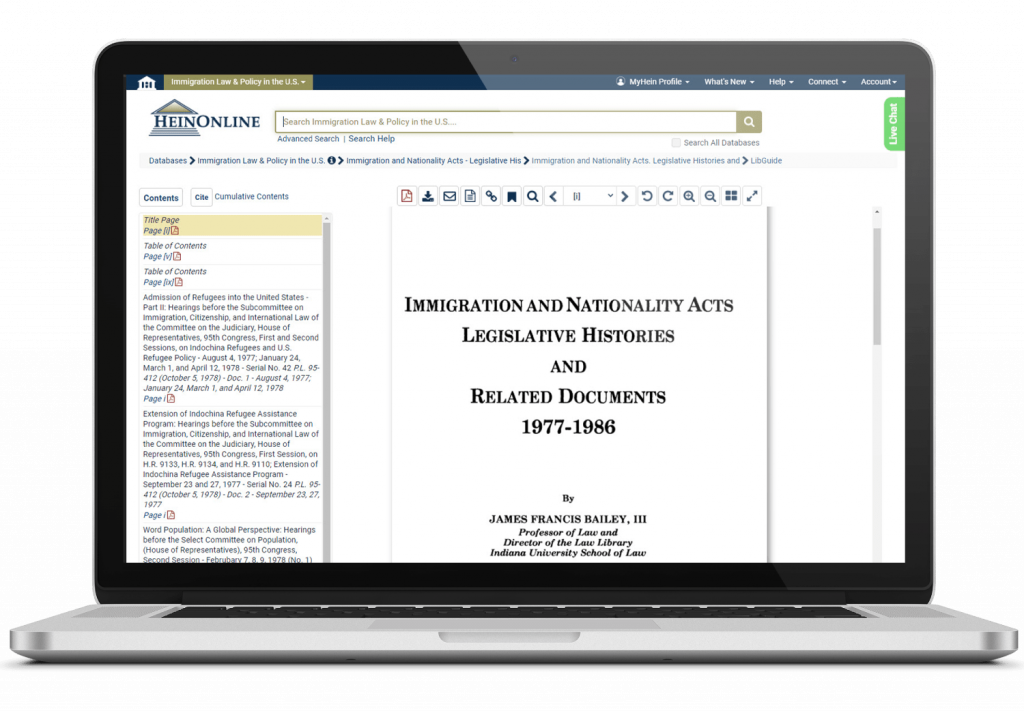 Immigration and the Law Laptop Image