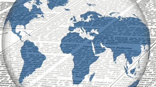 Newspaper Resource with a Globe