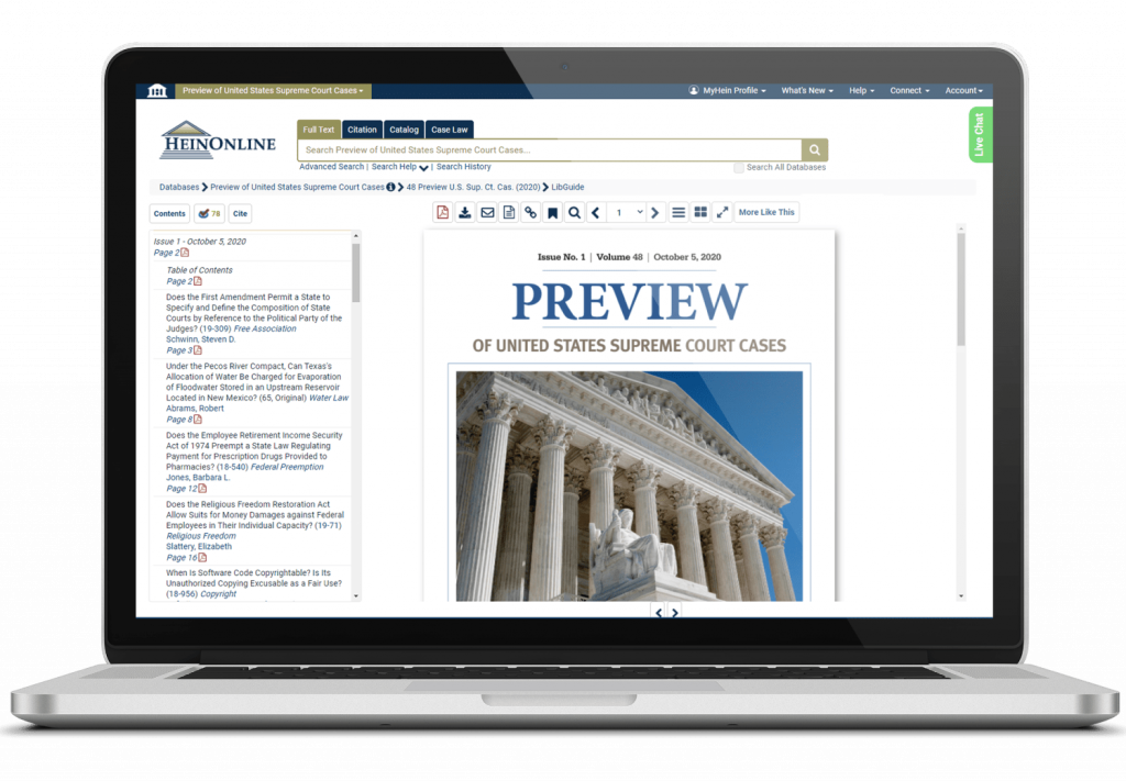 Preview of United States Supreme Court Cases Laptop View