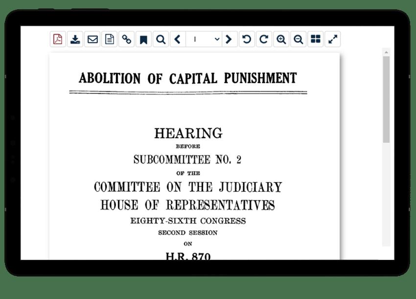 Capital Punishment Tablet View