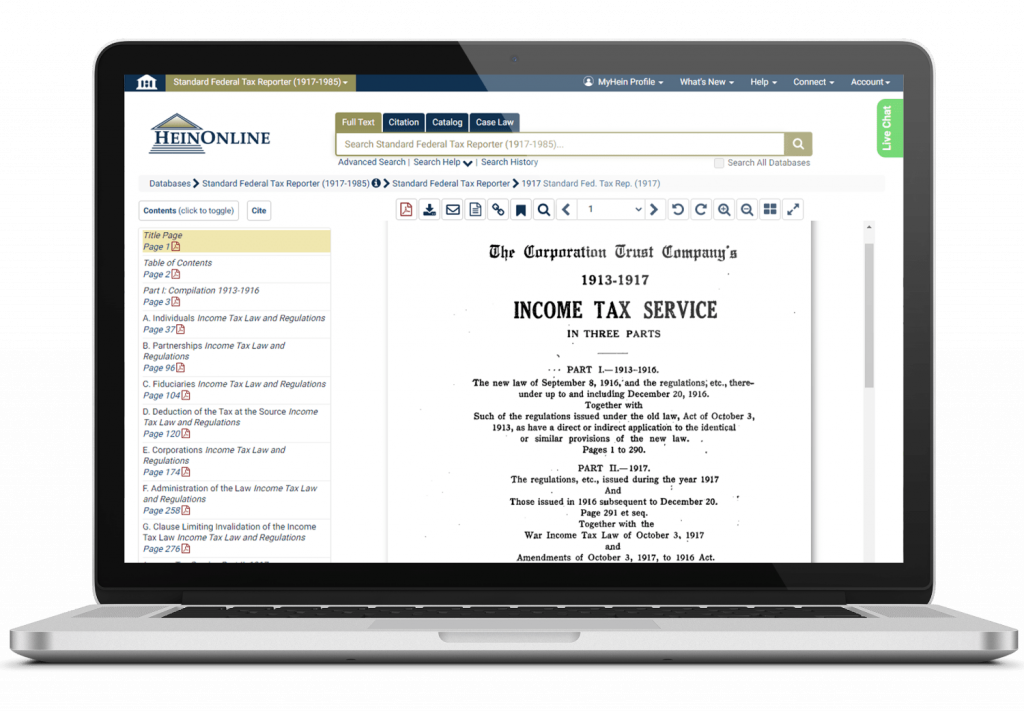 Standard Federal Tax Report document displayed on a laptop