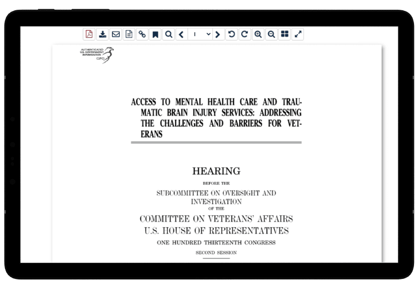 Congressional hearing in HeinOnline's Military and Government