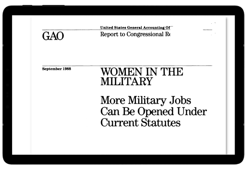 GAO Report in HeinOnline's Military and Government